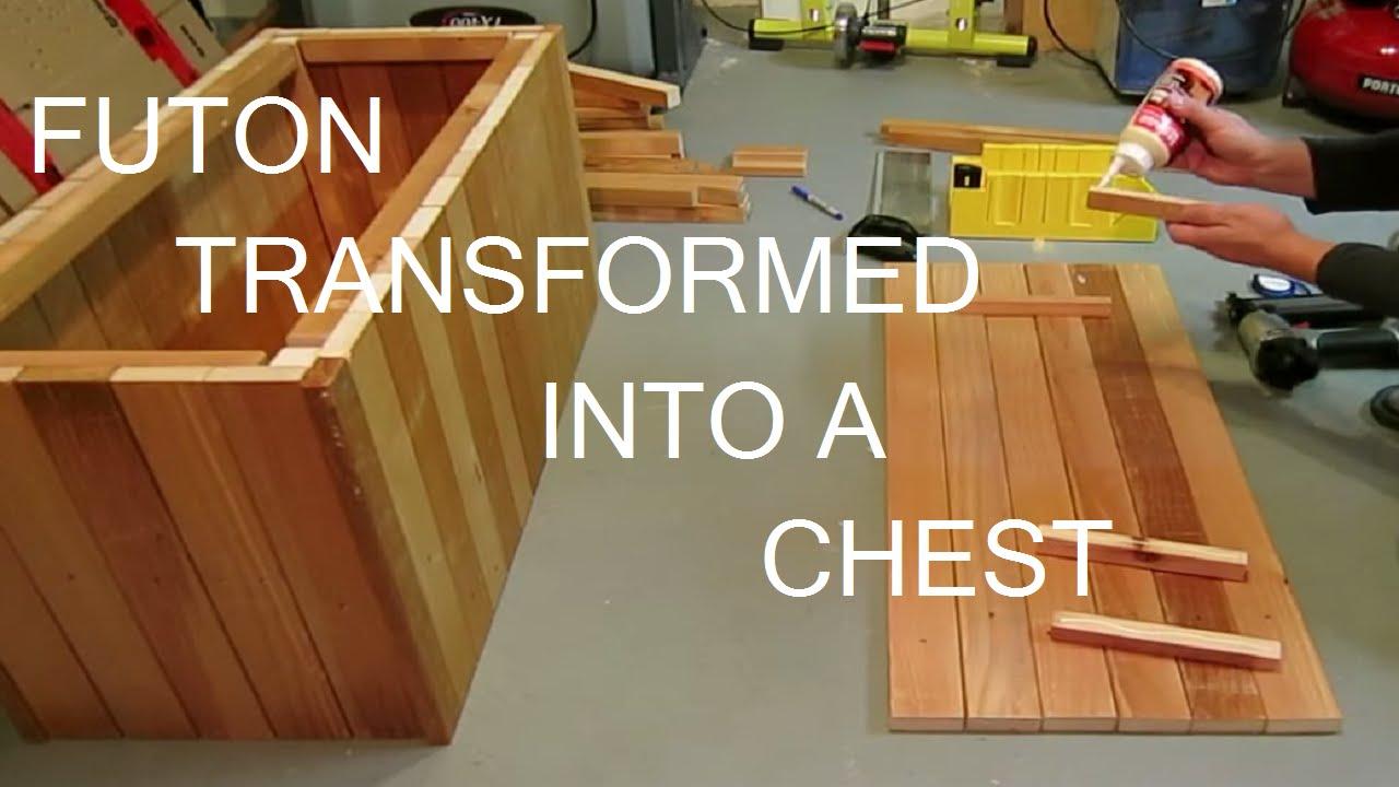 futon to chest build   youtube  rh   youtube