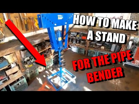 How to make a stand for a pipe bender