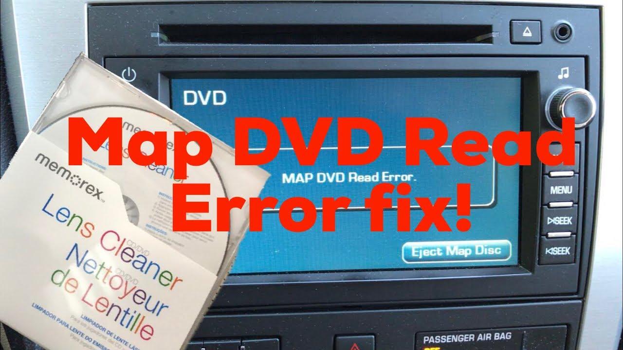 DVD Map Read Error Fix (2011 GMC Acadia) - YouTube
