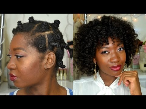 HEATLESS CURLS OVERNIGHT | BANTU KNOT OUT  ON WET HAIR FEAT. ARVAZALLIA |  HOW TO BANTU KNOT