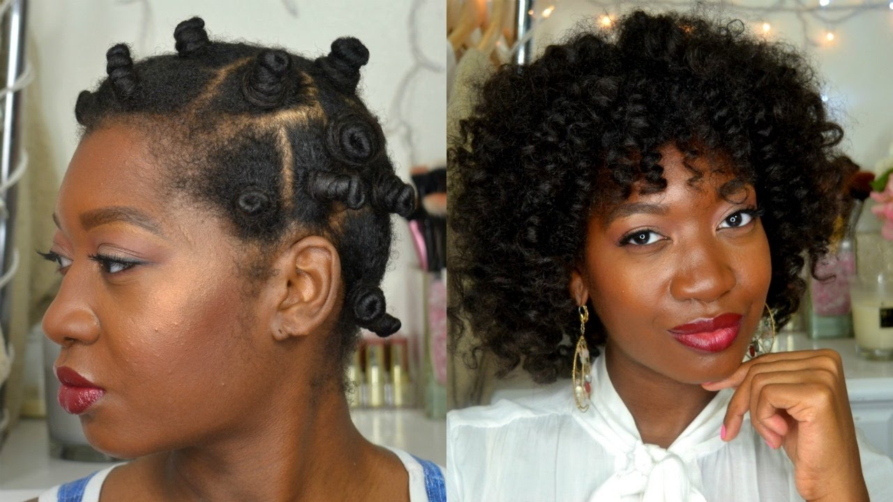 Heatless Curls Overnight Bantu Knot Out On Wet Hair Feat