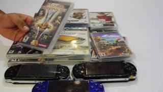 Mi coleccion del PSP gracias a las ventas de garaje