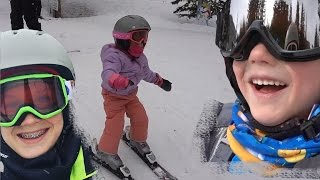 Kids Learning How to SKI
