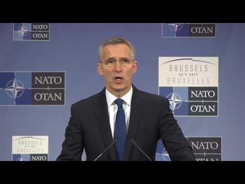 NATO HQ: 5-26-17. Sec. Jens Stoltenberg's Final Statements at Meeting of NATO leaders.