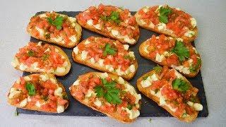 брускетта - это БОМБА-закуска! Нереально вкусные бутерброды!