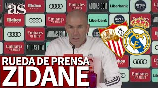SEVILLA - REAL MADRID | Rueda de prensa de ZIDANE | Diario AS