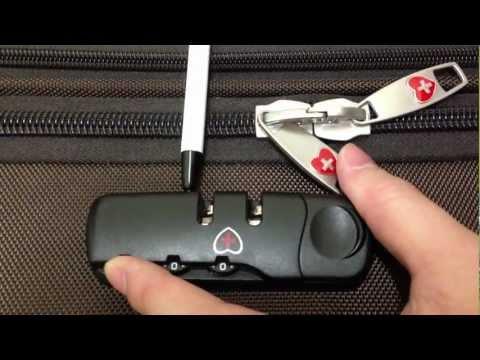 วิธี reset รหัสกระเป๋าเดินทาง 3 หลัก