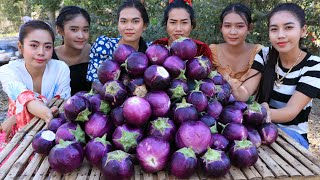 WOW amazing cooking curry eggplants with chicken recipe
