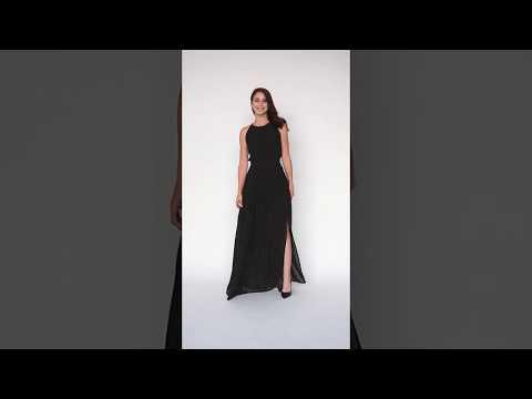 Video: Elegancka sukienka szyfonowa maxi