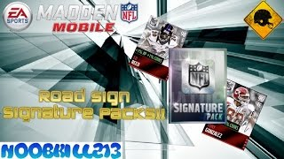 Madden Mobile 16 Road Sign Signature Pack!!