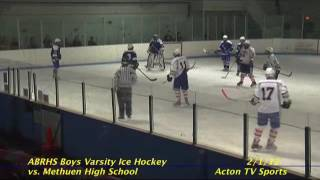 Acton Boxborough Varsity Boys Hockey vs Methuen 1/28/12
