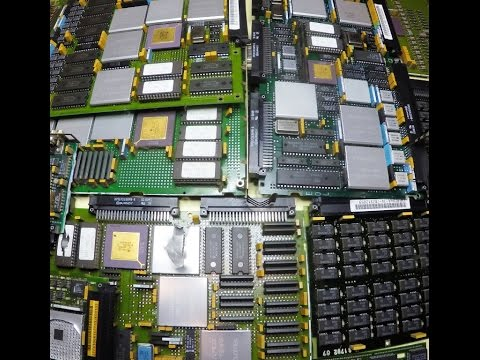 Vintage IBM AS/400 PC Scrap for High Value Gold Recovery