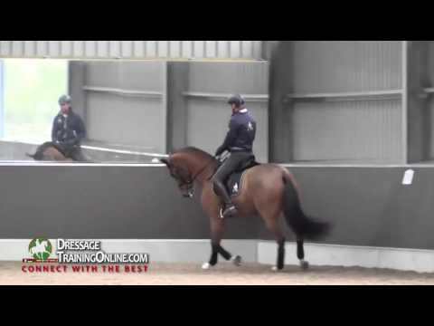Gareth Hughes, of the UK, Developing the trot and teaching how to get a better gait from your horse