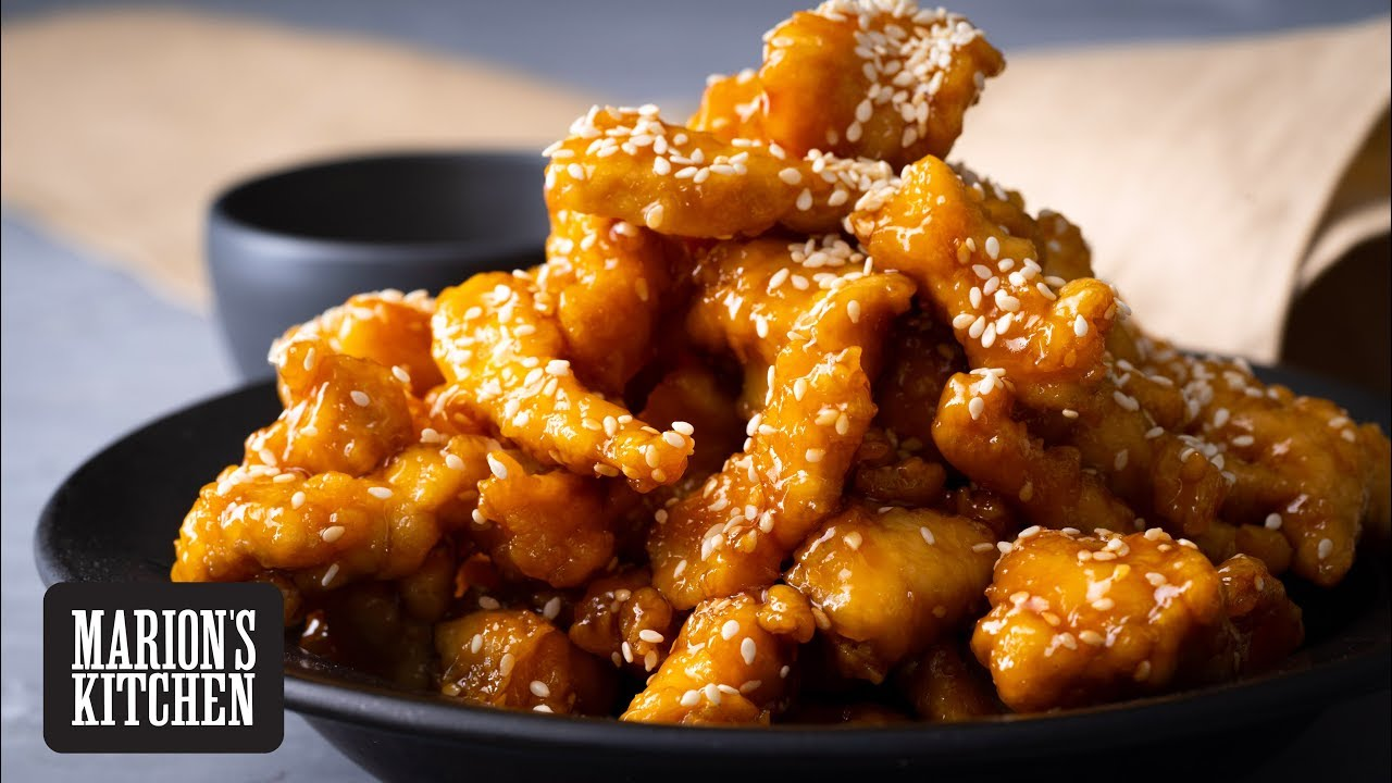 How To Make A Lighter Crispier Sesame Chicken Marion S Kitchen Youtube
