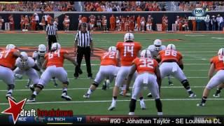 Jon Taylor (SE Louisiana DL) vs Oklahoma State 2016