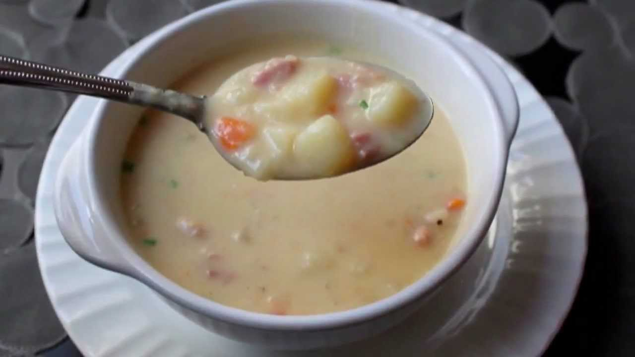 Ham And Potato Soup Recipe Ham And Potato Chowder Youtube