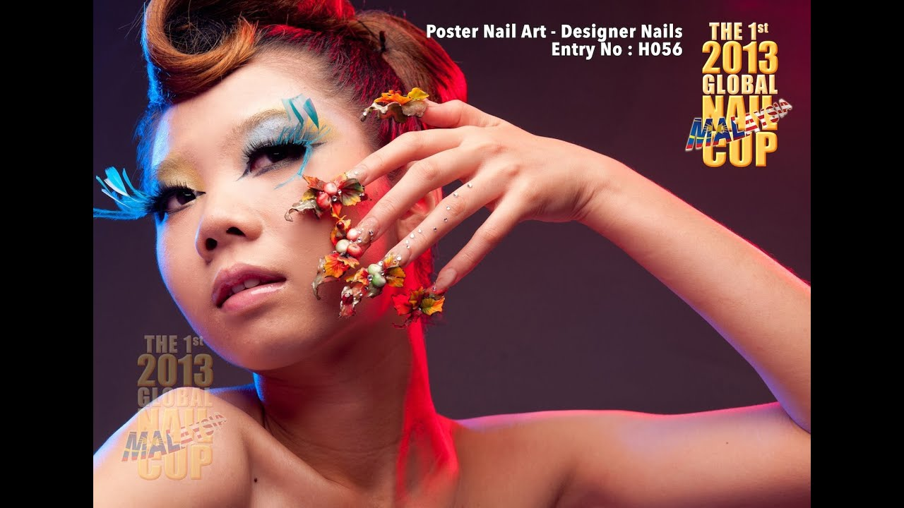 Poster Nail Art Competition 2014 2nd Global Nail Cup Malaysia