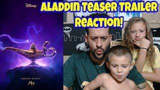 Aladdin Official Teaser Trailer | Reaction! #ClarkCrewReviews
