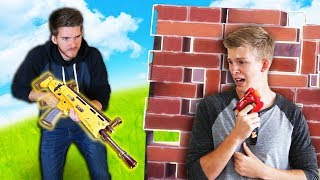 Fortnite Legendary Gun Found in Real Life (Nerf Battle)