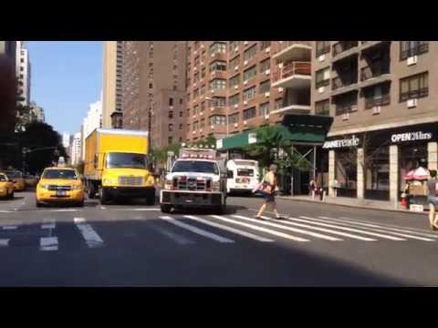 NYPD ESU TRUCK RESPONDING ON E. 14TH ST. IN THE UNION SQUARE AREA OF MANHATTAN IN NEW YORK CITY.