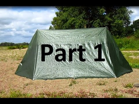DIY/MYOG-01 Part1 homemade tent out of polytarp / Zelt selbermachen aus Gewebeplane & DIY/MYOG-01 Part1 homemade tent out of polytarp / Zelt ...