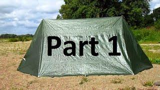 DIY/MYOG-01 Part1 homemade tent out of polytarp / Zelt selbermachen aus Gewebeplane