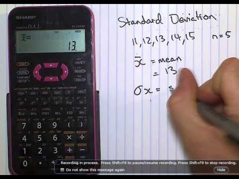 Tutorial, Using A SHARP EL Calculator For Standard Deviation