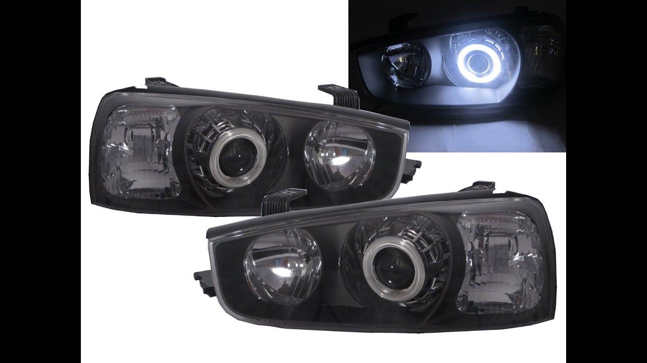 Crazythegod Elantra Xd Mk3 2000 2006 Ccfl Angel Eye Projector Hid Xenon Headlight Black For