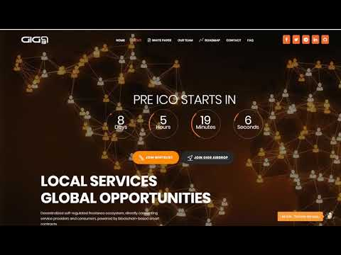 GIG9 Token Join Airdrop for 100 GIG Tokens!! GIG9 ICO - Local Services Global Opportunities