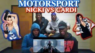 Migos - MotorSport (Nicki vs Cardi B) - REACTION!