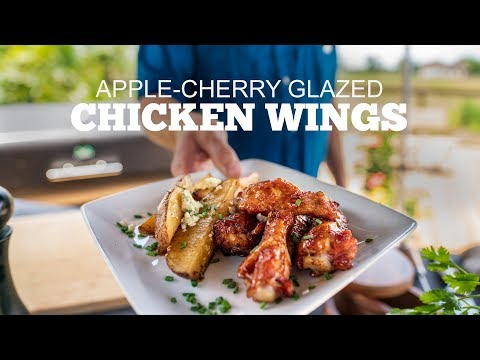 Apple-Cherry Glazed Chicken Wings with Jim Elser of Sweet Smoke Q