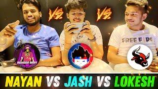 Tsg Jash Vs Nayan Vs Lokesh Collection Battle Vlog 😍 - Garena Free Fire