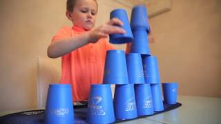 Cute six-year-old UK champ wins world record for Cup Stacking