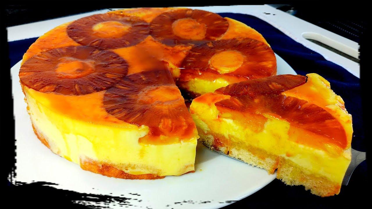 tarta de piña sin horno facil y refrescante