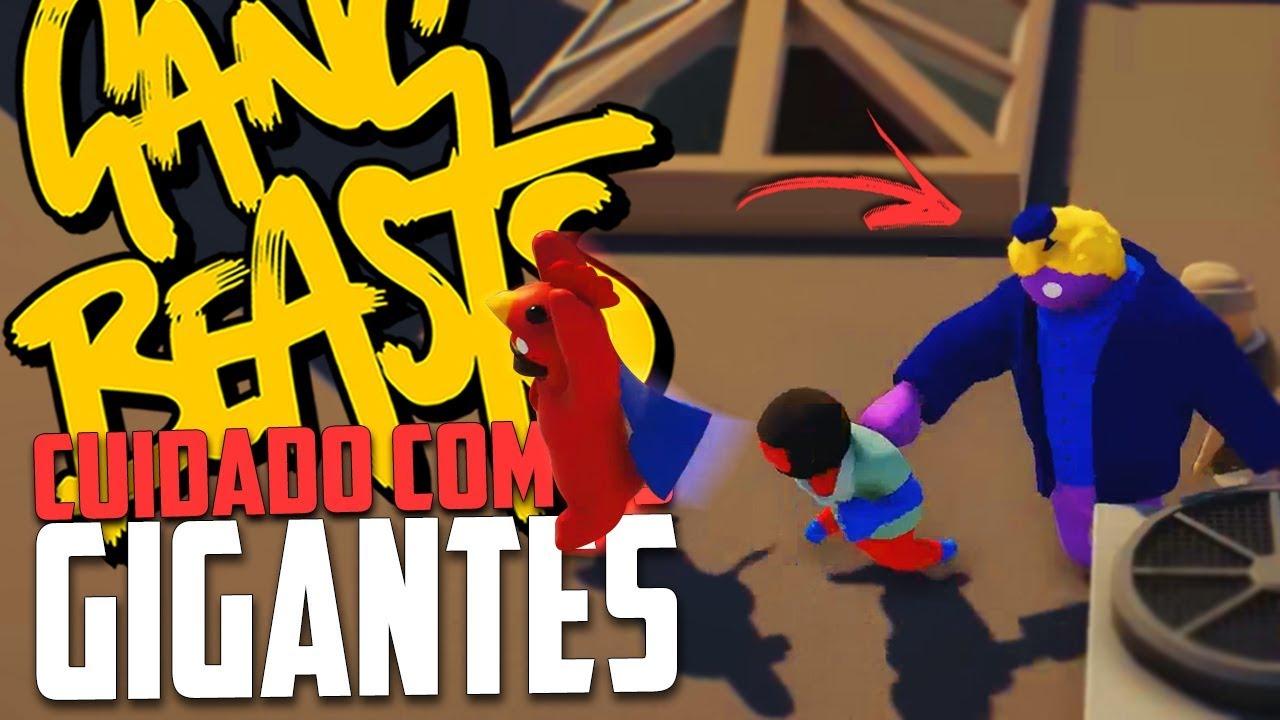CUIDADO COM OS GIGANTES! - Gang Beasts Momentos Engraçados!