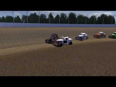 rFactor - DirtWork Designs Dwarfs 2013 - Willamette Speedway Crash