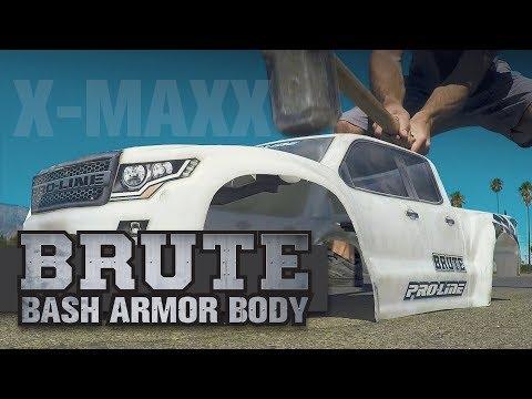 ... ProLine Brute Bash Armor Karosserie Pre-Cut in weiß PRO3513-17 X-Maxx 8S