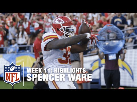 Spencer Ware's Breakout Game (Week 11) | Chiefs vs. Chargers | NFL Highlights