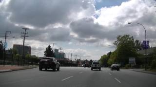 Driving in Surrey BC Canada - King George Boulevard - Whalley & Newton
