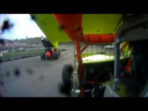 Clay Dow Sprint Cars of New England In-Car Heat + Feature Races at Bear Ridge Speedway 9-24-11