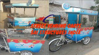 Gambar cover Street Vending Bicycle Cart/ ICE-CREAM CARTS made by Sai Structures India#SSI food Cart on bicycle#