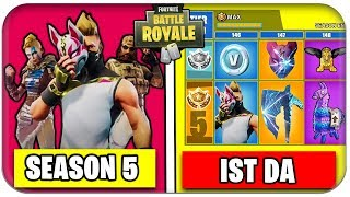 SEASON 5 TRAILER, BATTLE PASS SKINS, NEW ORTE | Fortnite Season 5 German German