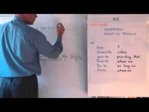 Haitian Creole lesson 11 - 'ki' vs. 'ke', pou, gentan, gendwa