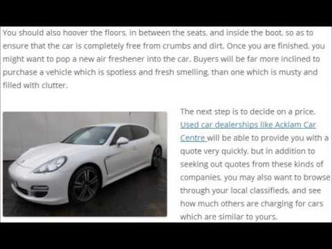Simple steps to help you sell your car faster l Acklam Car Centre