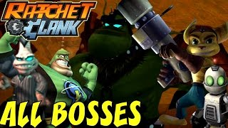 Ratchet and Clank - All Bosses (1080p/60fps)