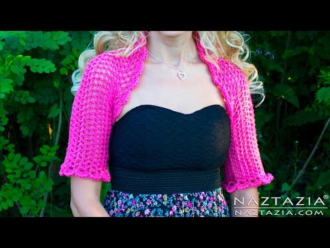 DIY Tutorial - Learn How to Crochet Easy Bolero Shrug - Cropped Sweater Cardigan Clothes Clothing