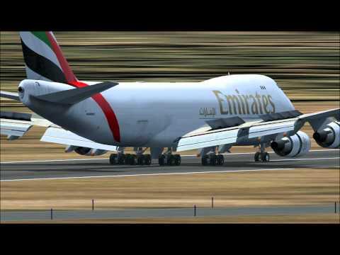 EMIRATES 747 SKY CARGO LANDING AT LA CHINITA AIRPORT VENEZUELA