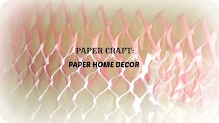 PAPER CRAFT: how to make paper wall/home decor in 5 mins-easy & simple DIY -WALL HANGIND