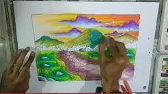 Mewarnai Langit Part 2 Dengan Oil Pastel