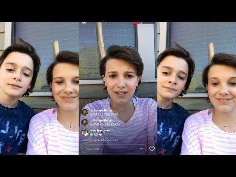Millie Bobby Brown & Noah Schnapp - Instagram Livestream [Part 1/2] 09/04/2017